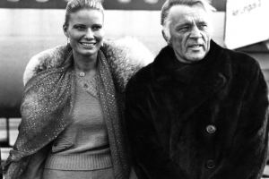 Richard Burton (1925-1984)The Welsh film star and stage actor, Richard Burton is pictured here arriving in Shannon Airport with his wife Suzy Miller during the actor's third effort at marriage after twice wedding Elizabeth Taylor in the 60s. A close friend of the late and great Richard Harris, there are fond memories of the pair, together with Peter O'Toole (all three are included in this exhibition) during the '60s holding up a bar counter at 3am singing songs while renowned Irish musician and song-writer Pecker Dunne played the banjo to a saxophone accompaniment.