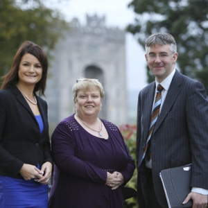 Helen Downes, chief executive, Shannon Chamber with Theresa O'Gorman and Eamonn Murphy, directors, Grant Thornton keynote speakers at Shannon Chamber's Budget 2015 briefing. Photo: Eamon Ward.