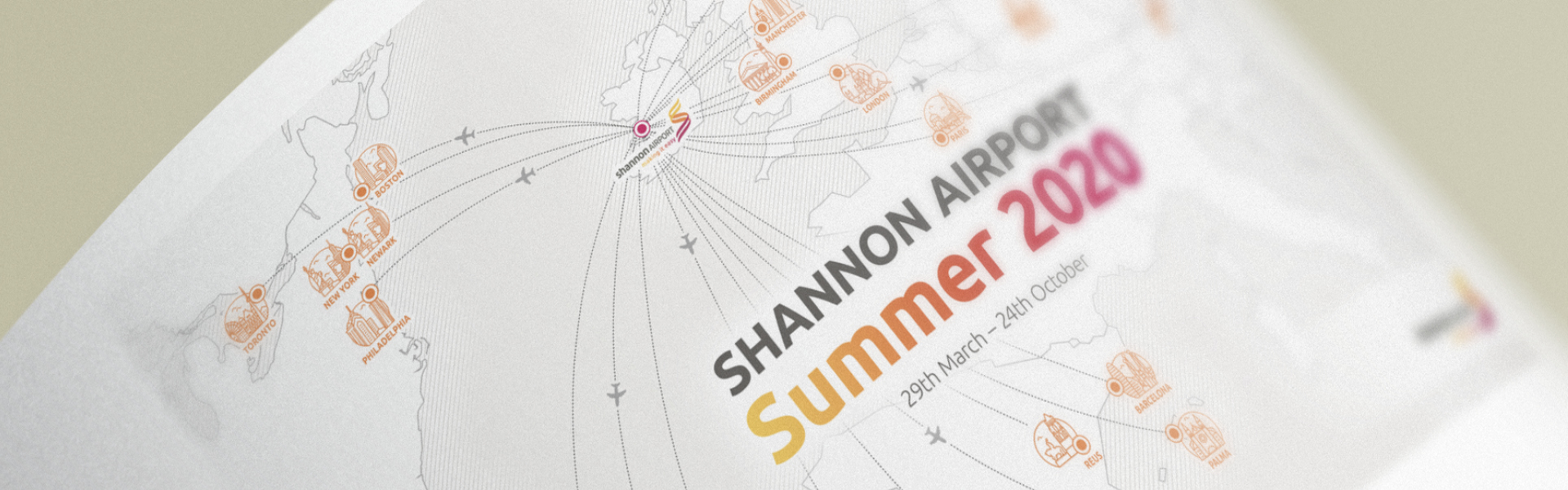 Shannon Airport Summer 2020 Banner