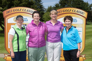 The sole female golfers to partake in Shannon Chamber's Golf Classic  were the molly d marketing team (from left): Jude Byrne, Mary Lipper, Dympna O'Callaghan and Ann Byrnes. Photo by Eamon Ward.