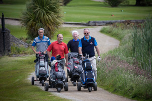 The Croom Precision team comprising Patrick Byrnes, Tom Tracey, Gerry Murray and John Joe O'Regan stayed in close formation at Shannon Chamber's Golf Classic. Photograph by Eamon Ward