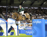 Former World Champion Dermott Lennon is favourite to win the first ever Jumping In The City Grand Prix on Friday