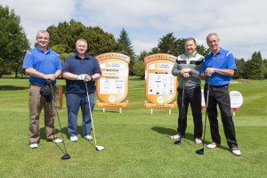 The Genworth team comprising Andrew Flaherty, John O'Connor, Colm O'Brien and Ger Dunworth all set to tee off at Shannon Chamber's Golf Classic. Photograph by Eamon Ward