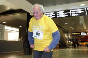 19/06/2015 William Maloney aged 86 from Caherdavin pictured at the Bank of Ireland Runway Night Run 2015 which took place at Shannon Airport on Friday Night. Pic: Don Moloney