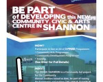 BE PART of Developing a New Community and Civic Arts Centre in Shannon