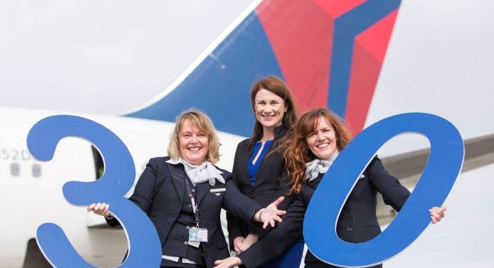 Champagne corks pop as Delta celebrates 30 years of Irish operations