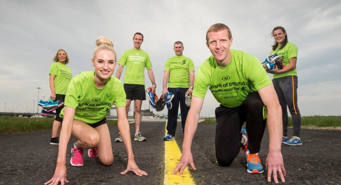 Henry Shefflin and Liam Sheedy on hand to launch Bank of Ireland Runway Night Run at Shannon Airport