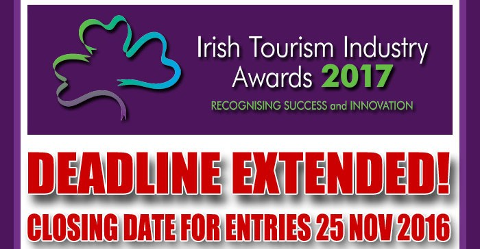 Nominations Sought for 2017 Irish Tourism Industry Awards
