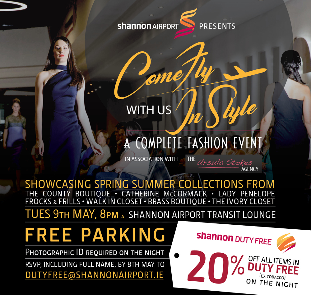A Complete Fashion Event Come Fly With Us In Style Shannon Chamber