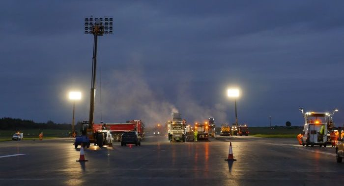 Equivalent of one football pitch being laid each night as Shannon Airport runway upgrade advances