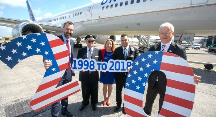 United Airlines Marks 20th Anniversary of Shannon-New York/Newark Service