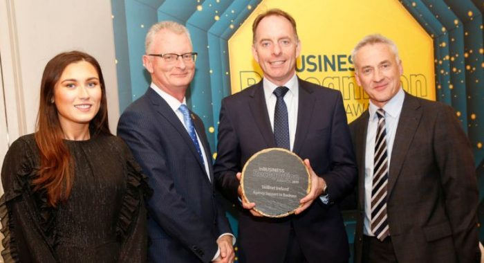 Skillnet Ireland named 'Best Agency Support to Business' in InBusiness Recognition Awards 2019.