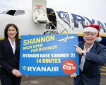 Shannon Airport gets early Christmas present from Ryanair