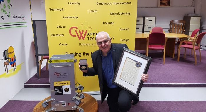 Shannon Based CW Applied Technology ReceivesInnovative Product of The Year 2021 For ItsPortable UV Room Sterilizer - The MUV-X
