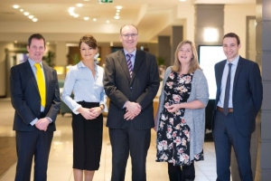 Billy McMahon,Tax Director Grant Thornton,Helen Downes, Shannon Chamber, Ian Barrett , Shannon Chamber Prof Sheila Killian ,Kemmy Business school and Cillian Griffey, Shannon Chamber Skillnet at the Shannon Chamber Budget Briefing with Grant Thornton at the Radisson Hotel on Wednesday morning. Photograph by Eamon Ward