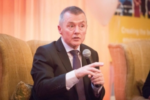 **NO REPRO FEE** Willie Walsh, CEO IAG , speaking at the Shannon Chamber President's Lunch at Dromoland Castle on Friday. Photograph by Eamon Ward (Gordon Deegan has story on Willie Walsh)