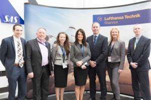Up-Skilling the Mid-West visit to Lufthansa Technik, Shannon. Photograph by Eamon Ward