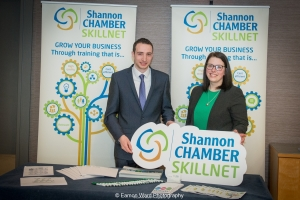 No repro fee- upskilling the mid west - 06/03/2017, From left to right: Cillian Griffey and Lijana Kizaite - Shannon Chamber SkillnetPhoto credit Shauna Kennedy