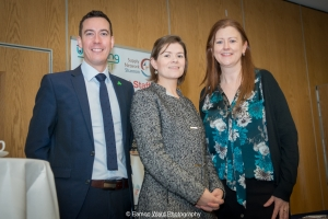 No repro fee- upskilling the mid west - 06/03/2017, From left to right:Niall O'Callaghan -IDA, Orlaith Brothwick - ‎Programme Manager, Mid-West Action Plan for Jobs - ‎Limerick City and County Councils; Helen Brown - University of Limerick Photo credit Shauna Kennedy