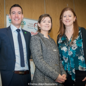 No repro fee- upskilling the mid west - 06/03/2017, From left to right:Niall O'Callaghan -IDA, Orlaith Brothwick - Programme Manager, Mid-West Action Plan for Jobs - Limerick City and County Councils; Helen Brown - University of Limerick Photo credit Shauna Kennedy